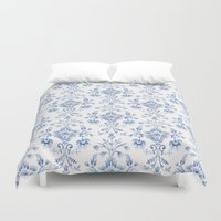 damask Duvet Covers featuring Damask... by Catherine Ann Lewis