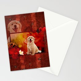 Sweet golden retriever Stationery Cards