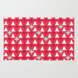 Christmas pattern red Rug