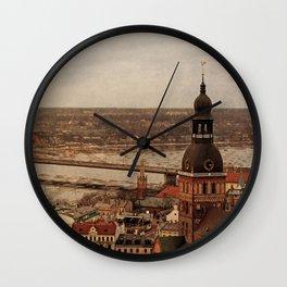 Riga from above Wall Clock