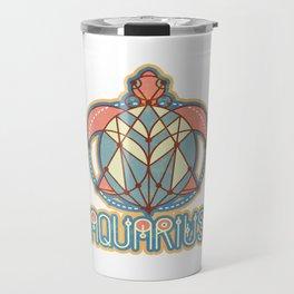 Aquarius Zodiac Travel Mug