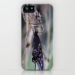 Butterfly emerging from cocoon iPhone Case