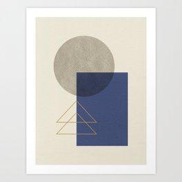 Geometric - Gray Blue Kunstdrucke