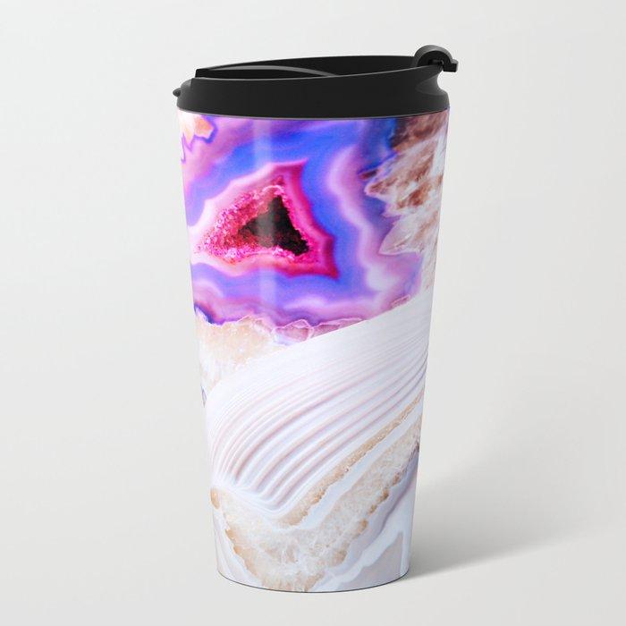Agate, a vivid Metamorphic rock on Fire Metal Travel Mug