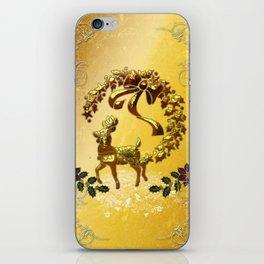 Christmas, reindeer iPhone Skin