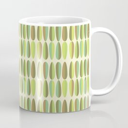 Mid Century Modern Green Seamless Patte Coffee Mug
