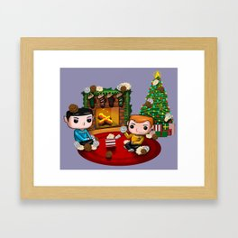 The Trouble with Christmas Framed Art Print