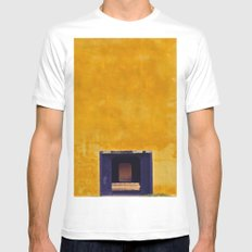 Emperor's yellow house MEDIUM White Mens Fitted Tee