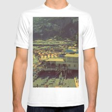 Beach in Amalfi, Italy Mens Fitted Tee White MEDIUM