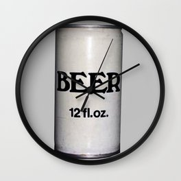 BEER ON GREY Wall Clock
