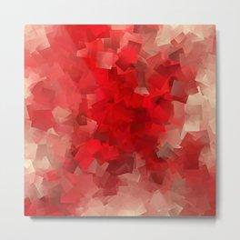 red modern pattern Metal Print