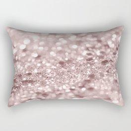 Sparkling Rose Gold Blush Glitter #1 #shiny #decor #art #society6 Rectangular Pillow