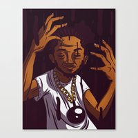 kendrick lamar Canvas Prints featuring Kendrick Lamar by Theodore Taylor III