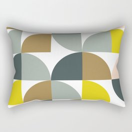 Abstract Geometrical Design in Soft Colors Rectangular Pillow
