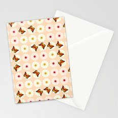 Daisies and butterflies Stationery Cards