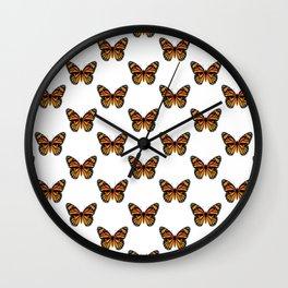 Monarch Butterfly Pattern Wall Clock