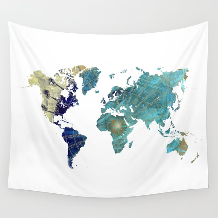 World map wind rose wall tapestry by jbjart society6 world map wind rose wall tapestry gumiabroncs Image collections