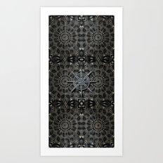 Silver and black Deco Art Print