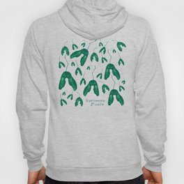 Maple Seeds - Green and White Hoody