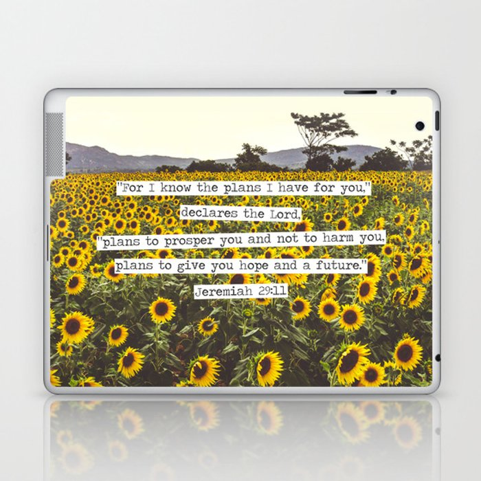 Jeremiah Sunflowers Laptop & iPad Skin