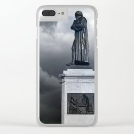 Johannes Gutenberg memorial, Mainz, Germany Clear iPhone Case