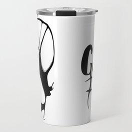 "Golden Pirate - 40. ""Robot Dog"" Travel Mug"