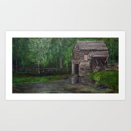 The Other Mill - Acrylic painting Art Print