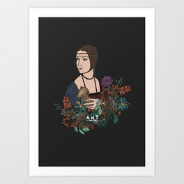 The Lady With An Ermine Art Print