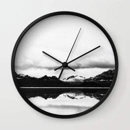 Black and white nature, Scandinavian, Minimal Wall Clock