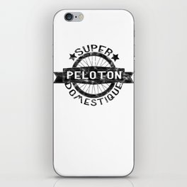 Peloton Super Domestique Retro Bike Bicycling Distressed iPhone Skin