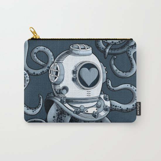 I'm falling in love with you? (blue gray) Carry-All Pouch