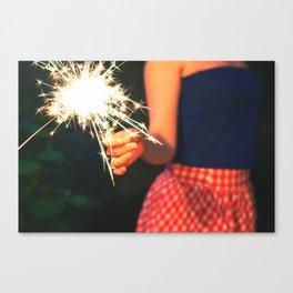 summer sparkler Canvas Print