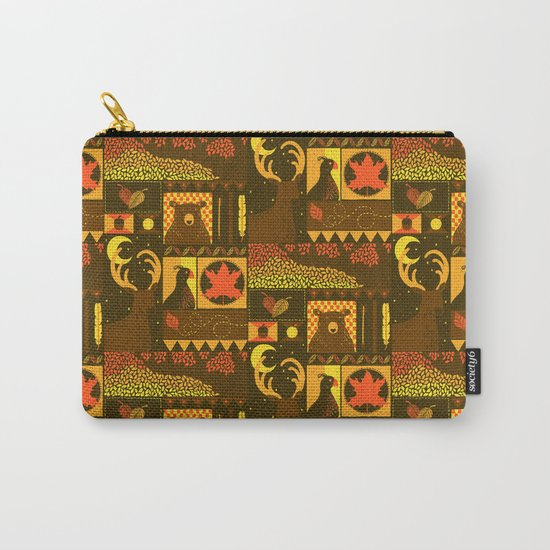 Fall Square Carry-All Pouch