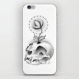 Skull Flower iPhone Skin