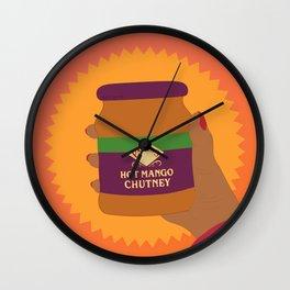 Mango Chutney Wall Clock