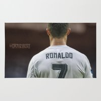 ronaldo Area & Throw Rugs featuring CR7 no7 by Cr7izbest