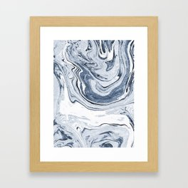 Kiyomi - spilled ink japanese monoprint marble paper marbling art print cell phone case with marble Framed Art Print