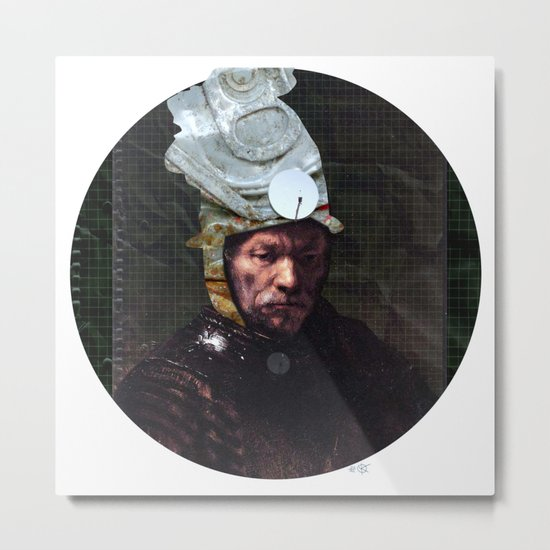 Rembrantds Golden Helmet Collage 2 Metal Print
