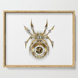 Spider with Clock ( Steampunk ) Serving Tray