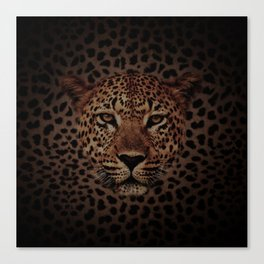 LEOPARD KING Canvas Print