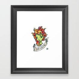 Beware Medusa Girl Framed Art Print