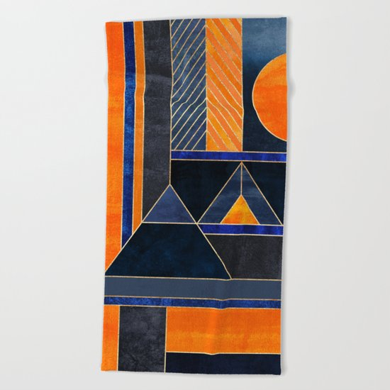 Midnight Sun Beach Towel