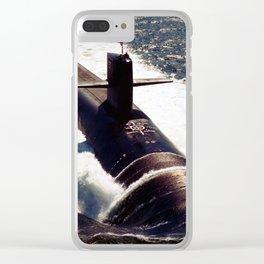 USS MICHIGAN (SSGN-727) Clear iPhone Case