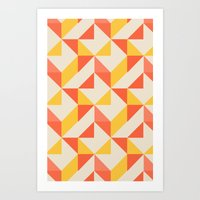 geo Art Prints featuring Geo by Aneela Rashid