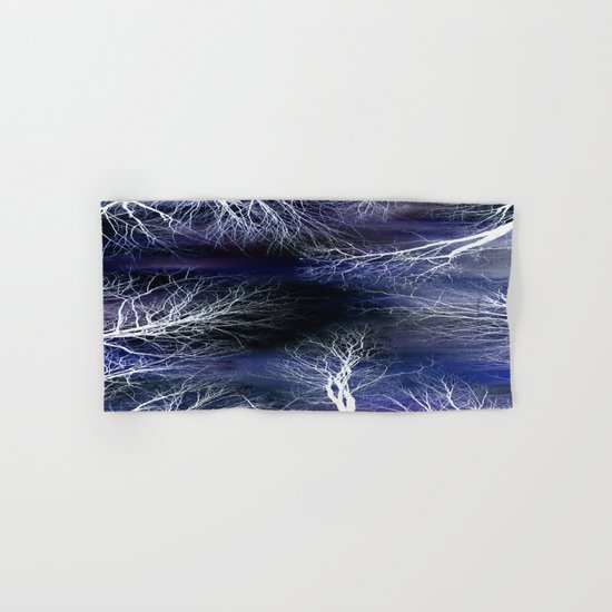Abstract Midnight Trees Hand & Bath Towel