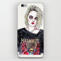 sky ferreira iPhone & iPod Skins featuring SKY FERREIRA NO,17 by Lucas David