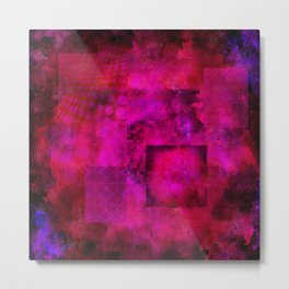 Patched Hot Pink Metal Print