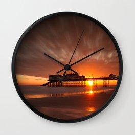 Cromer Pier Sunrise Wall Clock