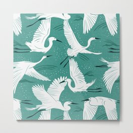 Soaring Wings - Teal Green Metal Print