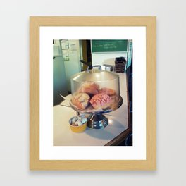 donut? ~ vintage cake plate Framed Art Print